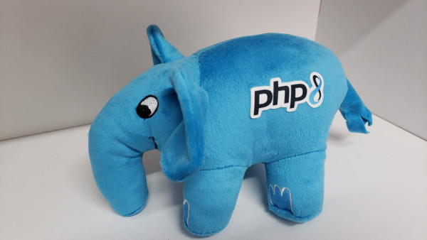 Personalized PHP Elephant with a PHP 8 logo