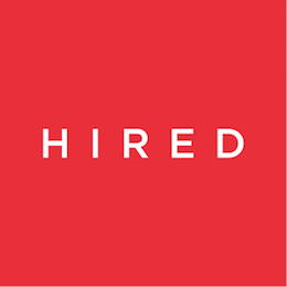 Hired red logo