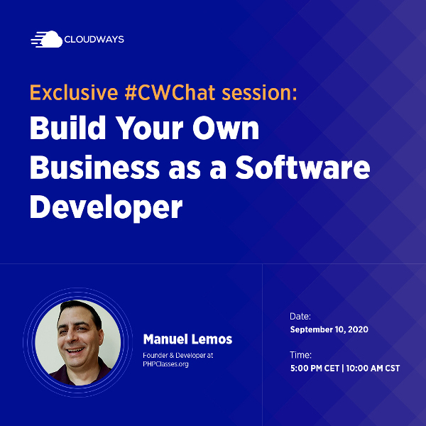 Live Chat on Building Your Own Business as a Software Developer