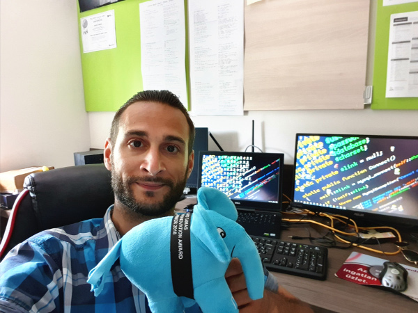 PHP ElePHPant prize received by our David Tamas on May 2019