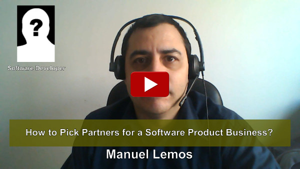 How to Pick Partners for a Software Product Business?
