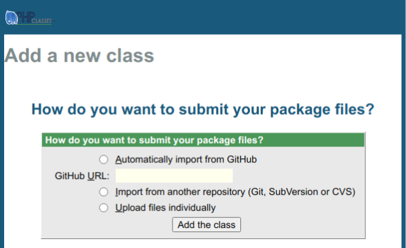 Package package submission page