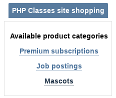 PHP Classes site shopping