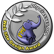 PHPClasses site Web Design Award contest logo
