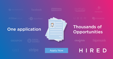 Apply to jobs in Hired