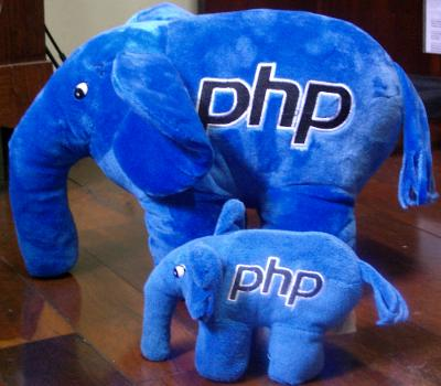 Picture of the big and small elePHPant plush toys