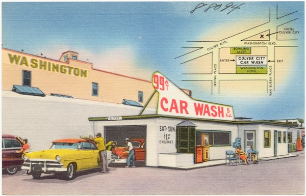 car wash — example of a queue