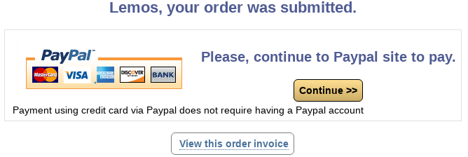 elePHPant order select payment redirection