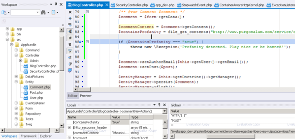 Fast Debugging of PHP Code Using PHPEd Part 2: Debugging Symfony