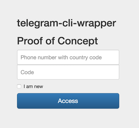 Telegram cli wrapper login