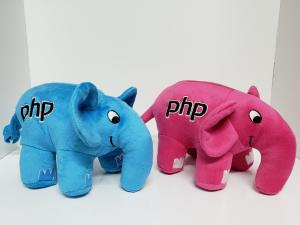 2 Original PHP Elephants Pink and Blue