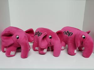 3 Original Pink PHP Elephants
