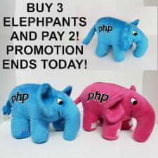 3 Original PHP Elephants Pink and Blue and Pay 2